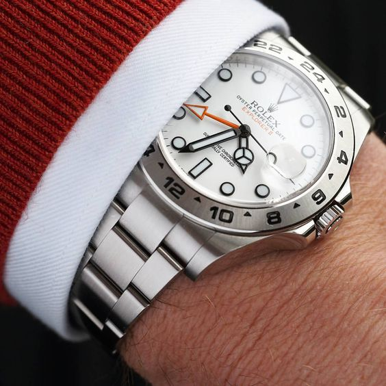 Rolex Explorer II with suit